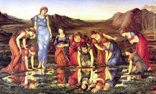 The Mirror of Venus - 1875 - Edward Burne-Jones {{PD}}