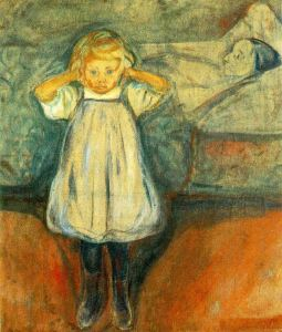 Edvard Munch - Death and the Child (1899) {{PD}}