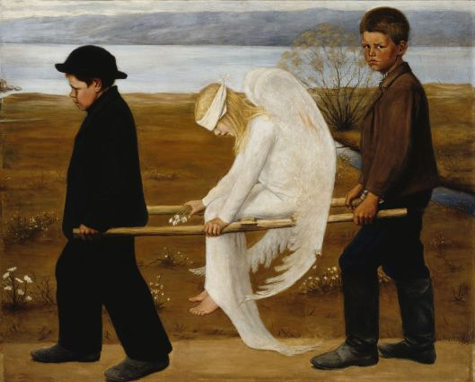 Hugo Simberg  'The Wounded Angel' - Haavoittunut enkeli 1902 {{PD}}
