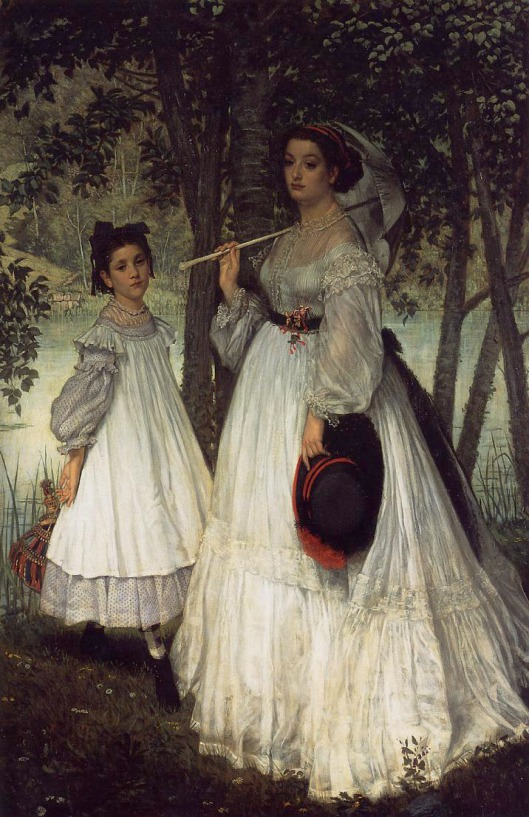 James Tissot - 'Two Sisters' 1862 {{PD}}