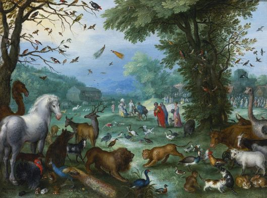 Jan Brueghel the Elder, Landscape of Paradise and the Loading of the Animals in Noah's Ark, 1596 {{PD}}