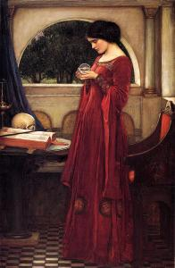 The Crystal Ball (1902) by John William Waterhouse {{PD}}