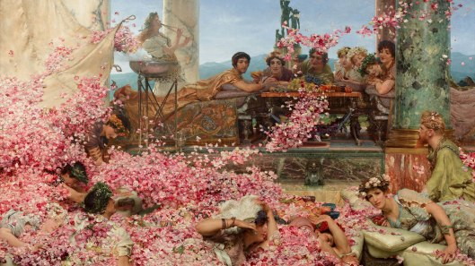 'The Roses of Heliogabalus' - Lawrence Alma-Tadema {{PD}}