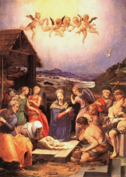 'Worship of the Shepherds' by Bronzino {{PD}}