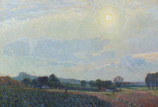 Even if it's not summer where you are, it may feel like it. 'Nevelzon (A sunny morning)' Leo Gestel 1910 {{PD}}