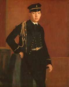 Edgar Degas - 'Achille De Gas in the Uniform of a Cadet' c1856 {{PD}}
