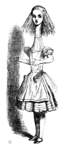 From John Tenniel's illustrations for Lewis Carroll's Alice in Wonderland {{PD}}