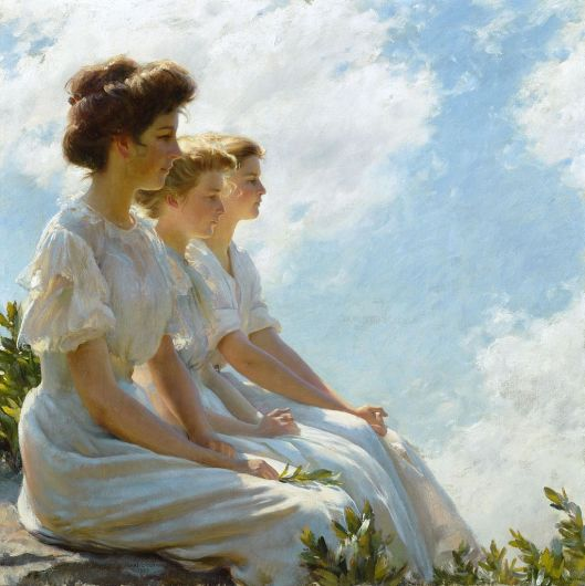 'On the Heights' - Charles Courtney Curran c1909 {{PD}}