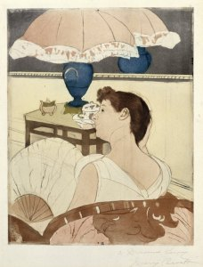 'The Lamp' - Mary Cassatt c1891 {{PD}}