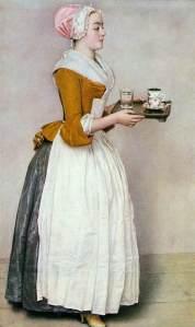 Das Schokoladenmädchen (Fräulein Baldauf) (1744) Jean-Étienne Liotard {{PD}}