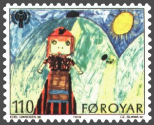 "You've got your girl, you've got your Sun, you've got your space helmet--where's the friend? ""Girl in Faroese Costume"" by Edel Davidsen, 8 years 2004 {{PD}}"