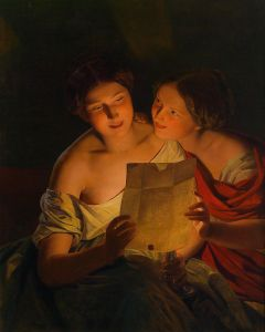 This is called 'The Love Letter', but could apply to today's word image, if we think of it as someone trying to get you to stop loving yourself. Ferdinand Georg Waldmueller - 'Der Liebesbrief' 1848 {{PD}}