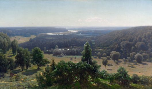 Jūlijs Feders - 'The Gauja Valley' 1890 {{PD}}