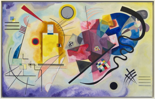 Not exactly new, but it still feels fresh. 'Yellow-Red-Blue' 1925 Wassily Kandinsky {{PD}}