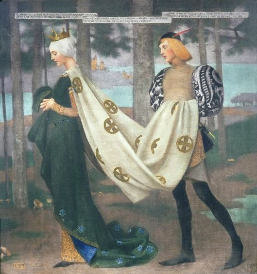 Marianne Stokes - 'The Queen and the Page' 1895 {{PD}}