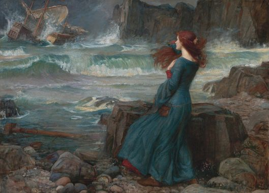'Miranda -- The Tempest' 1916 John William Waterhouse {{PD}}