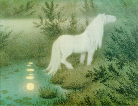 The Nix as a brook horse by Theodor Kittelsen 1908 {{PD}}