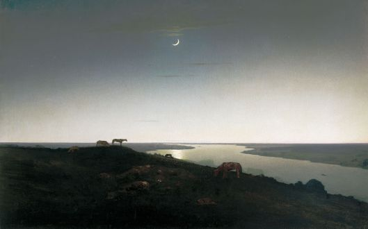 'Moonlit Landscape' Archip Kuindshi 19th c. {{PD}}