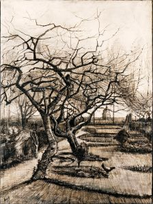Vincent van Gogh - 'The Parsonage Garden at Nuenen in Winter' 1883 {{PD}}