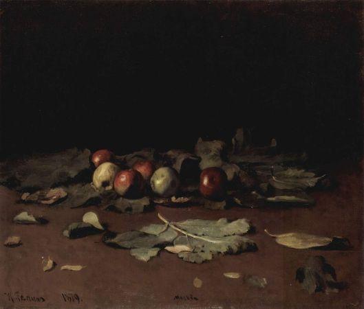 Ilja Repin 'Apples and Leaves' 1878 {{PD}}