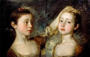 Thomas Gainsborough - 'Mary and Margaret Gainsborough, the artist's daughters' c1758 {{PD}}